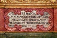 Dettaglio dell'altare in cappella del san Roch, Zagabria Immagine Stock