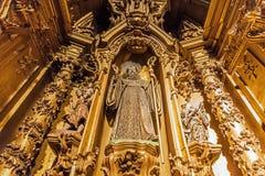 Dettaglio dell'altare della S Monastero di bento Fotografia Stock