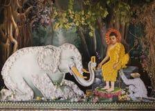 Dettaglio dell'altare di Budhist Fotografia Stock