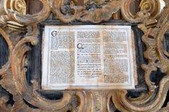 Dettaglio dell'altare nella cappella di San Giorgio in Purga Lepoglavska, Croazia Fotografia Stock