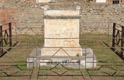 Dettaglio dell'altare in tempio di Vespasian, Pompei Fotografia Stock