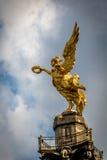 Dettaglio dell'angelo del monumento di indipendenza - Città del Messico, Messico immagine stock