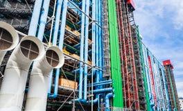 Dettaglio dell'architettura alta tecnologia moderna del centro Georges Pompidou Fotografia Stock
