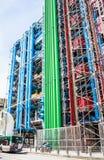 Dettaglio dell'architettura alta tecnologia moderna del centro Georges Pompidou Immagine Stock Libera da Diritti