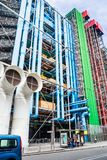 Dettaglio dell'architettura alta tecnologia moderna del centro Georges Pompidou Fotografie Stock Libere da Diritti