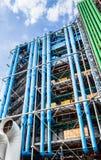 Dettaglio dell'architettura alta tecnologia moderna del centro Georges Pompidou Immagine Stock