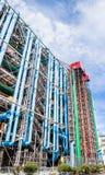 Dettaglio dell'architettura alta tecnologia moderna del centro Georges Pompidou Fotografia Stock Libera da Diritti