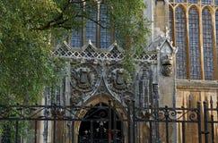 Dettaglio dell'College Chapel di re immagini stock libere da diritti