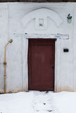 Dettaglio dell'entrata Vecchia casa russa fotografie stock