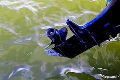 Dettaglio dell'imbarcazione a motore immagine stock libera da diritti