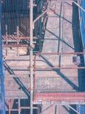 Dettaglio dell'impalcatura con l'inferriata Immagine Stock
