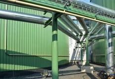 Dettaglio dell'impianto di biogas Immagine Stock Libera da Diritti