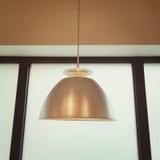 Dettaglio dell'interno con la lampada del metallo Fotografie Stock