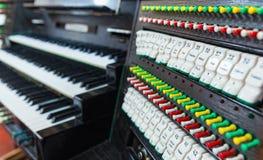 Dettaglio dell'organo Fotografie Stock Libere da Diritti