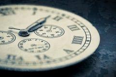 Dettaglio dell'orologio Fotografie Stock Libere da Diritti