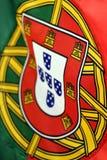 Dettaglio della bandiera del Portogallo Fotografia Stock