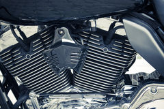 Dettaglio della bici del motore Fotografia Stock