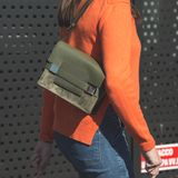 Dettaglio della borsa alla settimana di modo del ` s di Milan Women Fotografia Stock