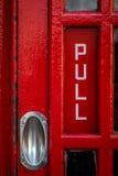 Dettaglio della cabina telefonica di Londra immagine stock libera da diritti