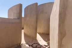 Dettaglio della camera del suono a Fortaleza de Sagres Fotografia Stock Libera da Diritti
