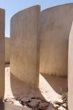 Dettaglio della camera del suono a Fortaleza de Sagres Fotografia Stock