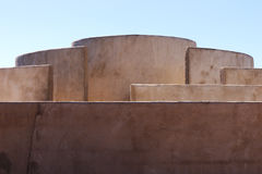 Dettaglio della camera del suono a Fortaleza de Sagres Immagini Stock Libere da Diritti