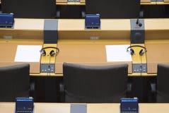 Dettaglio della camera plenaria al Parlamento Europeo Fotografia Stock Libera da Diritti