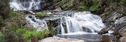 Dettaglio della cascata del paesaggio di panorama Immagini Stock Libere da Diritti