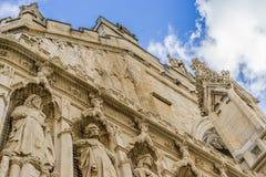 Dettaglio della cattedrale di Exeter, Exeter, Devon, Inghilterra Fotografia Stock Libera da Diritti