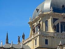 Dettaglio della cattedrale di Real de La Almudena della La di Santa MarÃa, Madrid Fotografie Stock