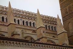 Dettaglio della cattedrale di Tarazona Fotografia Stock