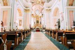 Dettaglio della cattedrale interna del san vergine Maria a Minsk, Bela Fotografia Stock Libera da Diritti
