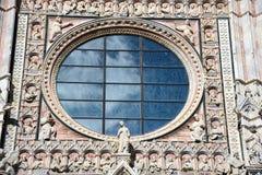 Dettaglio della cattedrale a Siena, Italia Immagine Stock