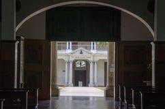 Dettaglio della chiesa a Caracas fotografia stock libera da diritti