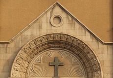 Dettaglio della chiesa cattolica Fotografie Stock