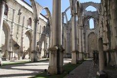 Dettaglio della chiesa di Carmo a Lisbona Fotografia Stock Libera da Diritti