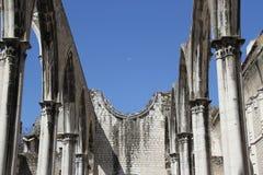 Dettaglio della chiesa di Carmo a Lisbona Immagine Stock Libera da Diritti
