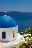 Dettaglio della chiesa di OIA su Santorini Le Cicladi Fotografia Stock