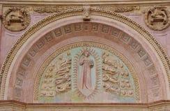 Dettaglio della chiesa di San Bernadino fotografia stock libera da diritti