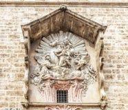 Dettaglio della chiesa di Santos Juanes Valencia, Spagna Fotografia Stock