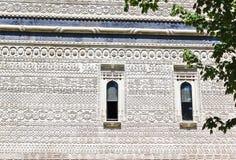 Dettaglio della chiesa in Moldavia Fotografie Stock Libere da Diritti