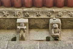 Dettaglio della chiesa romanica di Boelhe in Penafiel Fotografia Stock Libera da Diritti