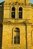 Dettaglio della chiesa storica Mogol di Grão Immagini Stock
