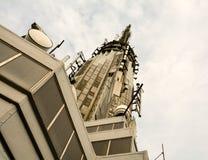 Dettaglio della cima dell'Empire State Building immagine stock
