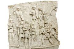 Dettaglio della colonna di Traiano fotografie stock