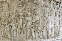 Dettaglio della colonna di Traiano Fotografie Stock Libere da Diritti