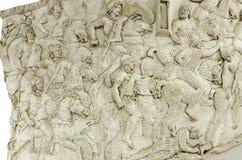 Dettaglio della colonna di Traiano Immagini Stock