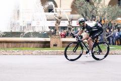 Dettaglio della concorrenza della bici di sanremo di Milano fotografie stock