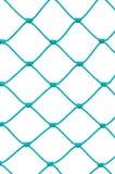 Dettaglio della corda della rete fisso del palo di calcio di calcio, nuovo Goalnet verde Fotografie Stock