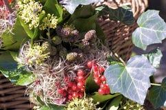 Dettaglio della corona di autunno Fotografie Stock Libere da Diritti